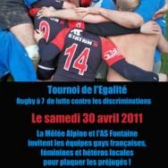 Tournoi de l'Egalité – La Mêlée Alpine – Samedi 30 avril 2011