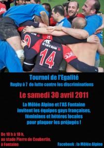 Tournoi de l'Egalité - La Mêlée Alpine - Samedi 30 avril 2011