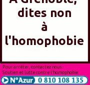Permanence Mensuelle, Accueil Public – SOS Homophobie Grenoble – Mercredi 8 juin 2016