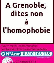 Permanence Mensuelle, Accueil Public – SOS Homophobie Grenoble – Mercredi 14 octobre 2015