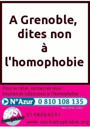 A Grenoble, dites non à l'homophobie