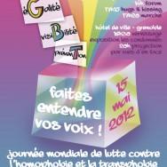 Journée Mondiale de Lutte contre l'Homophobie et la Transphobie – Programme Grenoble – Mardi 15 mai 2012