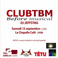 ClubTBM Before Musical – Samedi 15 septembre 2012