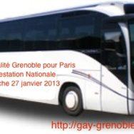 Car de l'Egalité de Grenoble par Lyon pour Paris – Manifestation Nationale – Dimanche 27 janvier 2013