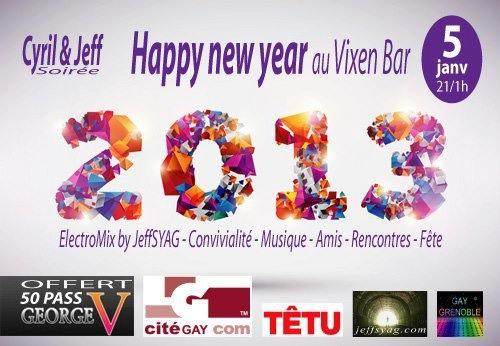 Cyril et Jeff «Happy New Year» @Vixen - Samedi 5 janvier 2012