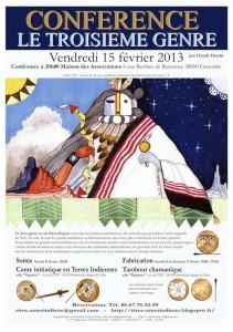"""Conférence sur les """"DEUX-ESPRIT"""" ou le """"TROISIEME GENRE"""" - Vendredi 15 février 2013"""