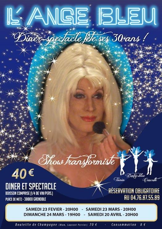 L'Ange Bleu fête ses 30 ans - Samedi 23 mars 2013