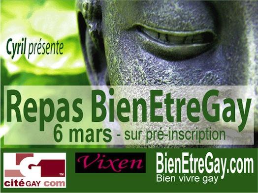 Repas BienEtreGay - Vixen - Mercredi 6 mars 2013