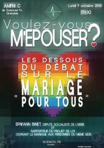 «Voulez-vous m'épouser?» - Conférence/Débat avec Erwann Binet - Sciences Po Grenoble - Lundi 7 octobre 2013