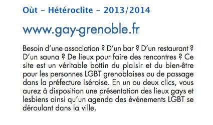 Presse - gay-grenoble.fr - Oùt - Hétéroclite - 2013-2014