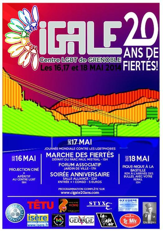 «Les 20 ans de fiertés» du Centre LGBT de Grenoble - CIGALE