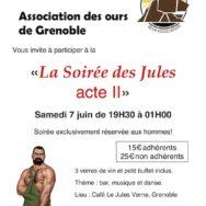 La Soirée Des Jules II – Grrrnoble Bear – Samedi 7 juin 2014