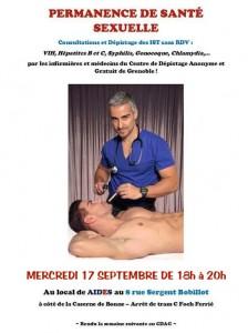 Permanence de santé sexuelle - Aides Rhône-Alpes - Mercredi 17 septembre 2014