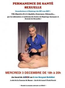 Permanence de santé sexuelle - Aides Rhône-Alpes - Mercredi 3 décembre 2014