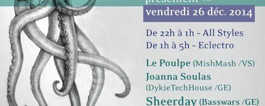 Les Nuits Poulpe – La Tanière – Vendredi 26 décembre 2014