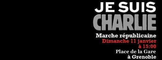 Marche Républicaine #JeSuisCharlie Grenoble - Dimanche 11 janvier 2015