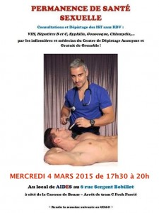 Permanence de santé sexuelle - Aides Rhône-Alpes - Mercredi 4 mars 2015
