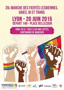 Gay Pride Lyon 2015 20e Marche des Fiertés de Lyon