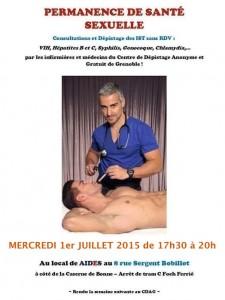 Permanence de santé sexuelle - Aides Rhône-Alpes - Mercredi 1er juillet 2015