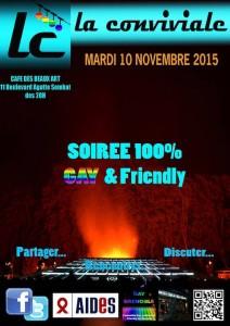Mensuelle de Novembre - La Conviviale - Mardi 10 novembre 2015