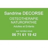 Sandrine DECORSE – Centre d'Ostéothérapie et de Naturopathie