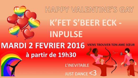 Happy Valentine's gay - S'Beer Eck – INPulse - Mardi 2 février 2016