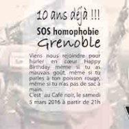 10 ans déjà! – SOS Homophobie au Café Noir – Samedi 5 mars 2016