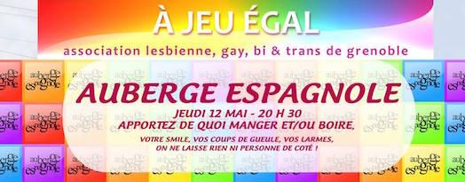 Auberge Espagnole - A Jeu Egal - Jeudi 12 mai 2016