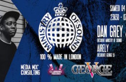 Ministry Of Sound Tour – George V – Samedi 4 juin 2016