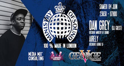 Ministry Of Sound Tour - George V - Samedi 4 juin 2016