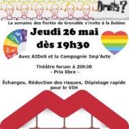 Semaine des Fiertés 2016 – Théâtre Forum – La Bobine – Jeudi 26 mai 2016