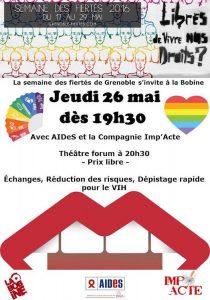Semaine des Fiertés 2016 - Théâtre Forum - La Bobine - Jeudi 26 mai 2016