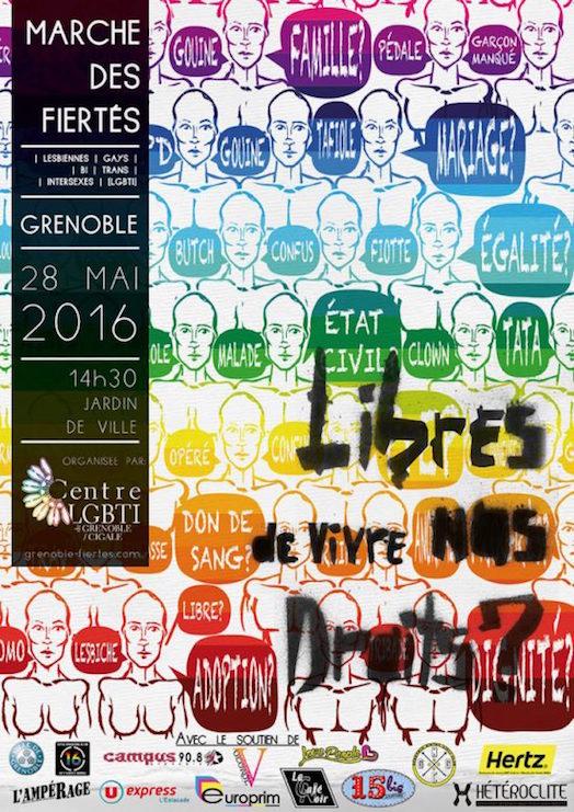 Marche des Fiertés Grenoble 2016 Gay Pride