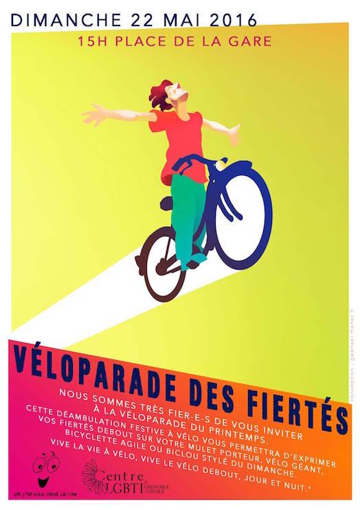 Semaine des Fiertés 2016 - Véloparade des Fiertés - Grenoble - Dimanche 22 mai 2016