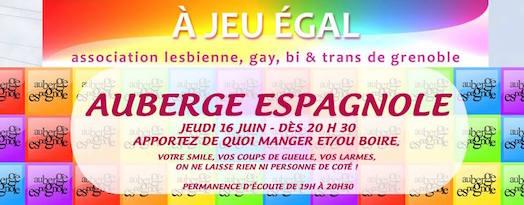 Auberge Espagnole - A Jeu Egal - Jeudi 16 juin 2016